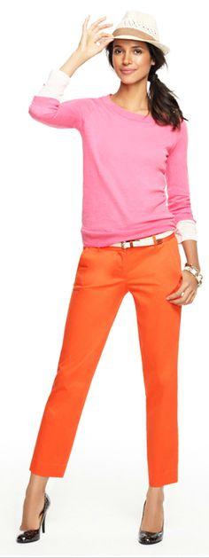 just love pink & orange