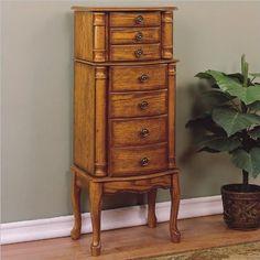 Powell Furniture Woodland Oak Jewelry Armoire