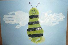Hand & Foot Print Bumble Bee
