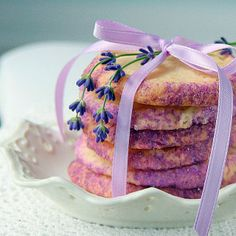Lavender Shortbread Cookies... my mom loves Lavender candy so I'm thinking these cookies are calling her name :)