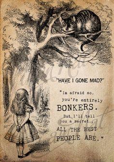 Alice in Wonderland 'Bonkers' Print