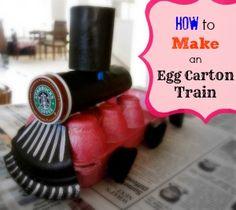 How to Make an Egg Carton Train @kmjh on @BonbonBreak