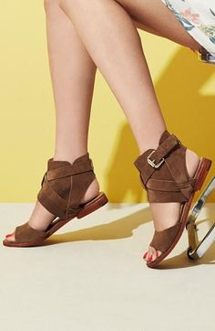 Love this summer trend - Suede cutout sandals
