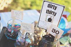 Dirty 30 - Dirt themed b-day 30 birthday, dirti 30, birthday parties, birthdays, birthday idea, birthday party themes, dirti thirti, parti idea, 30th birthday