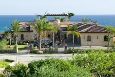 Beachfront villa.