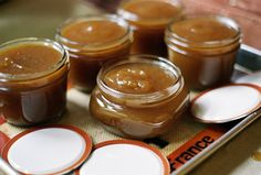 Easy apple butter - looks like a great Christmas basket goodie!