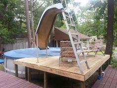 pool idea, ground pool, pool decks