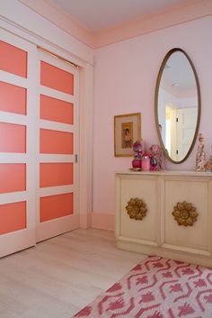 Coral Painted door panels...