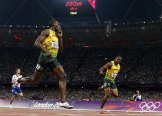 Bolt silences his critics.    200m Men's Final    #olympics, #london2012