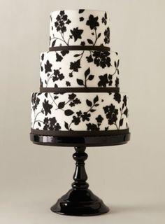 cake wedding, wedding ideas, flower cakes, cake stands, black white, white weddings, white cakes, white wedding cakes, fondant cakes
