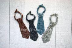 Crochet necktie, baby boy necktie, newborn boy photo prop, infant boy, crochet neck tie, necktie, brown, grey, gray, blue, baby boy clothes on Etsy, $16.00