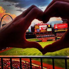 St. Louis cardinals, Busch Stadium, baseball #hearts