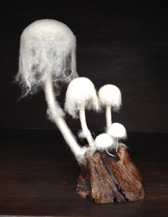 Mixed Media Fungus Ghost Fungus by PhillipaEngland on Etsy