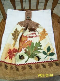 Happy Harvest Fall Crochet Top Kitchen or by kayandgirlscrafts, $2.85