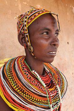Rendille Girl, Northern Kenya, Africa © Jeremy Curl