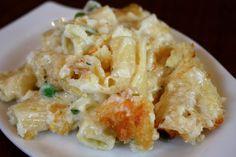 Crab, pasta and cheese gratin...