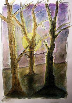 Three Trees Drawing