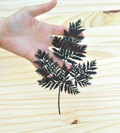 Fern Paper Cut Art