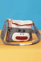 sock monkey messenger bag