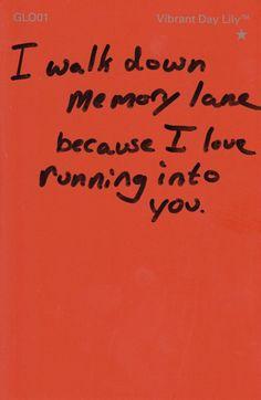memory lane...