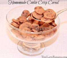 Homemade Cookie Crisp Cereal, so easy to make and fun too! ~TheLateFarmer.com