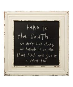 'In the South' Framed Sign #zulily #zulilyfinds