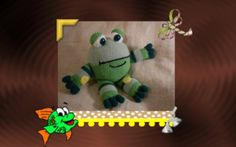 Funmigurumi And Kids Stuff: Croaky Puddler the Funmigurumi Frog    Born in the Chocolate Ponds beyond the Cupcake Mountains, where the Minty Bamboo grows and the Lemony lilly pads bloom, Croaky is not your frog, he's stuffed with chocolate kisses and tons of imagination!  #Amigurumi  #Funmigirumi  #crochet  #frog  #toys  #free pattern  #craftybegonia