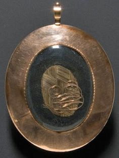 Miniature Portrait Of George Washington With His Hair On The Back Of The Frame    (Back)