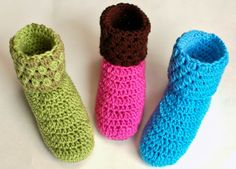 Crochet Slippers Pattern - A chilly night, a cup of hot tea, and your favorite pair of crochet slippers ... what could be cozier than that!