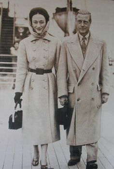 True love!! The Duke and Duchess of Windsor, formerly King Edward VIII and Wallis Simpson