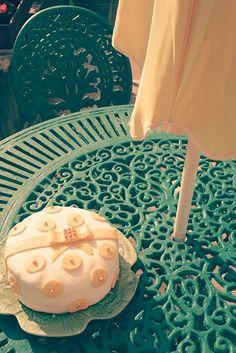 Summer polka dots french riviera cake