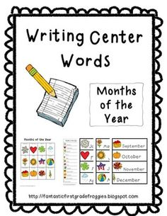 Writing Center Tools- Months of the Year