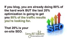 Photo: So - the question is, do YOU know how to optimize your blog posts for SEO? Learn more here: http://normadoiron.net/store-products-services/