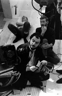 """Stanley Kubrick on the set of """"2001: A Space Odyssey."""""""