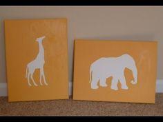 DIY Nursery Art: Budget Nursery Decor!