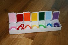 Turn an oversized medicine container into a color matching activity. - repinned by @PediaStaff – Please Visit  ht.ly/63sNt for all our pediatric therapy pins