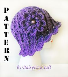 ... step by step images - PDF format - Crochet Hat - Twirl Lady Cloche www.etsy.com