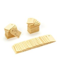 Another great find on #zulily! Wood Tag - Set of 25 #zulilyfinds