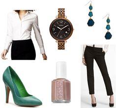 Style remix: white button-down shirt, black trousers