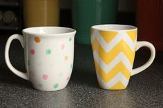 home is where the heart is: The right way to do the sharpie mug project.