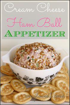 Cream Cheese Ham Ball Appetizer    AmyLovesIt.com #recipes #appetizer