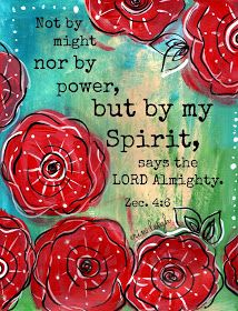 Art by Erin Leigh: Free Scripture Printable: Zecariah 4:6, Pick Your Portion