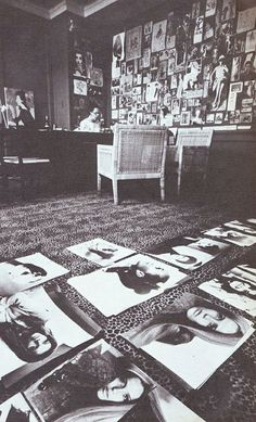 Diana Vreeland's leopard carpet in office - #interior #design #art #installation #artwall #gallery #artcollection #collection #museumviews