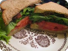 Heirloom Tomato BLTs with Tempeh Bacon