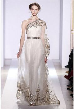 Grecian Gown by Zuhair Murad on Preston Bailey's Bride Ideas, Preston Bailey, Preston Bailey Blog, Preston Bailey Bride Ideas, Weddings, Bri...