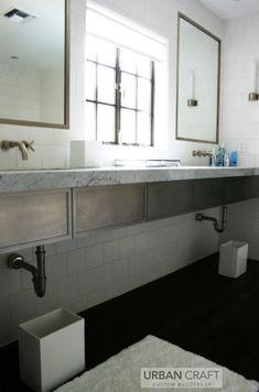 chic industrial bathroom