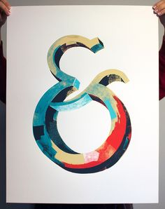 Ampersand screen print available at http://darrenbooth.com/shop/ampersand