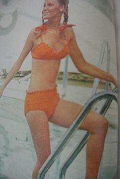 Vintage #crochet swimsuit