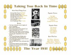 1931 events anniversari gift, 1932 birthday, birthdays, 80th birthday, event posters, anniversary gifts, celebr, parti idea, print