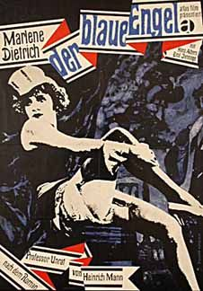 The Blue Angel (Josef von Sternberg, 1930), the first collaboration between Marlene Dietrich and von Sternberg, Dietrich is a cabaret dancer who ruins a respected teacher who falls in love with her. Find this at 791.43743 BLU